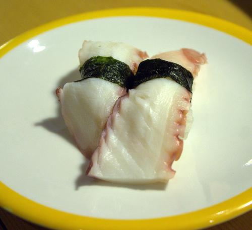 Tako (Octopus) Nigiri Sushi