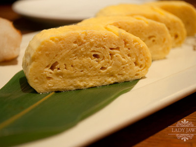 Tamagoyaki or Tamago (grilled egg) Sushi