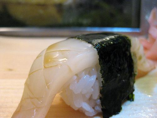 Ika Nigiri Sushi – Squid