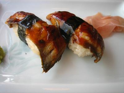 Unagi (Broiled Freshwater Eel) Nigiri Sushi